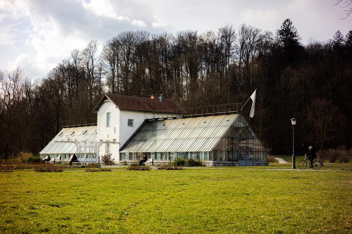 Greenhouse next to the lake