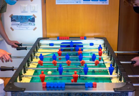 Playing-table-football